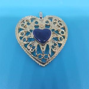 Vintage goldtone heart pentant